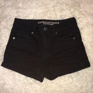 Black Next Level Stretch Jean Shorts